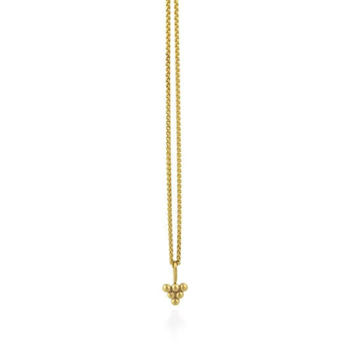 9kt Gold Sulis Small Bead Necklace-Prism Design-JewelStreet EU