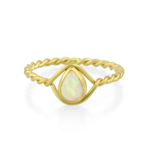 9kt Gold Opal Ring-Prism Design-JewelStreet EU