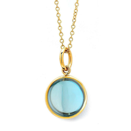 18kt London Blue Topaz Chakra Necklace-Syna-JewelStreet EU