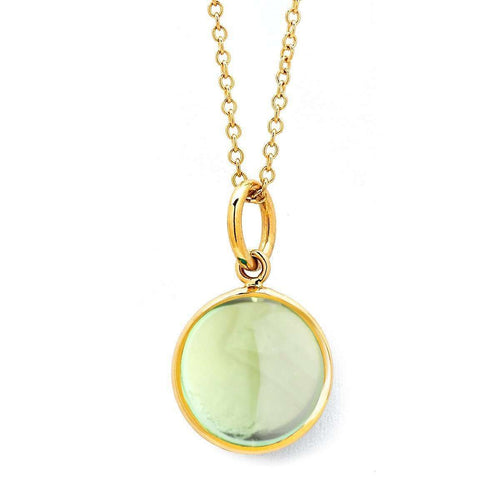 18kt Prehnite Chakra Necklace-Syna-JewelStreet EU
