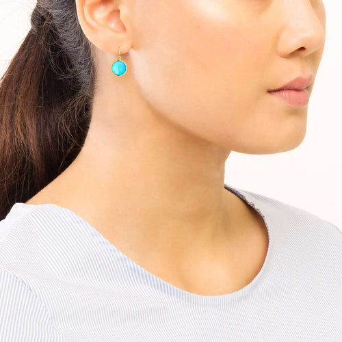 18kt Turquoise Chakra Earrings-Syna-JewelStreet EU