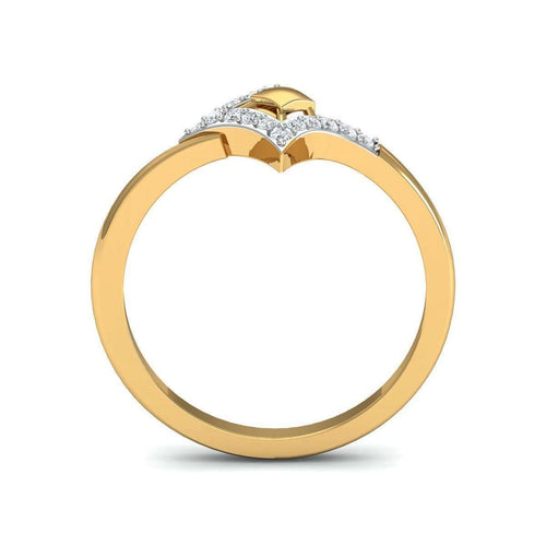 18Kt Yellow Gold Quintessential Diamond Engagement Ring-Diamoire Jewels-JewelStreet EU