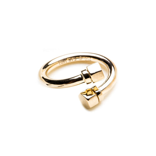 Pipe In Yellow Gold Twisted Ring