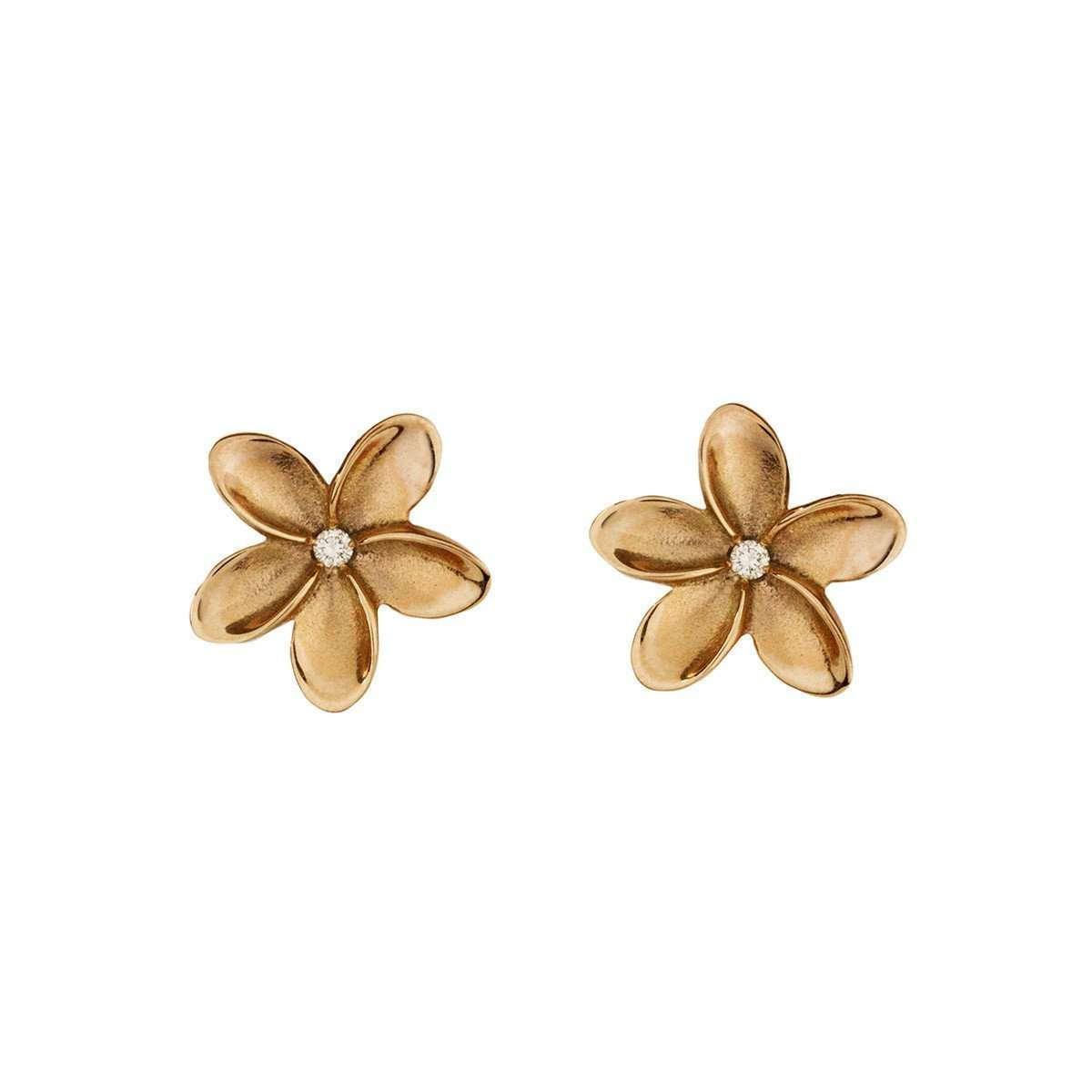 Frangipani Small Single Flower Earrings ,[product vendor],JewelStreet EU