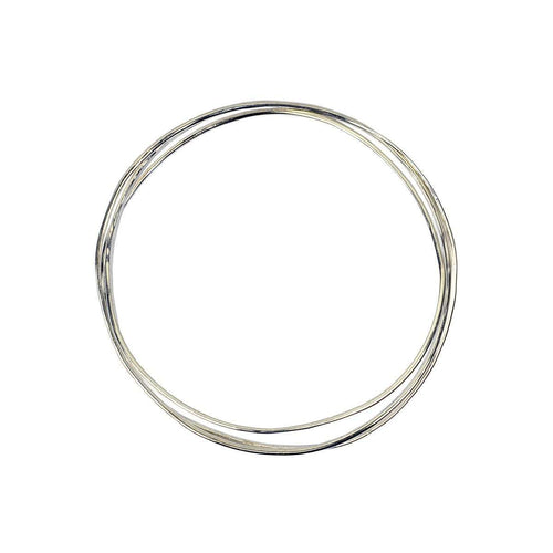 Wave Silver 3 Tier Bangle-FRAN REGAN JEWELLERY-JewelStreet EU