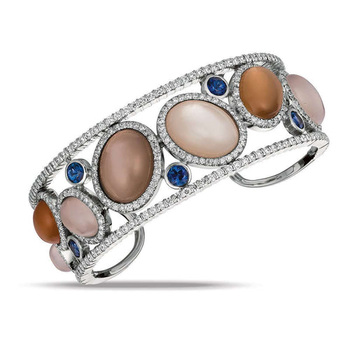 Large Moonstone Bangle Bracelet ,[product vendor],JewelStreet EU