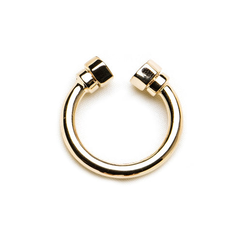 Pipe In Yellow Gold Ring