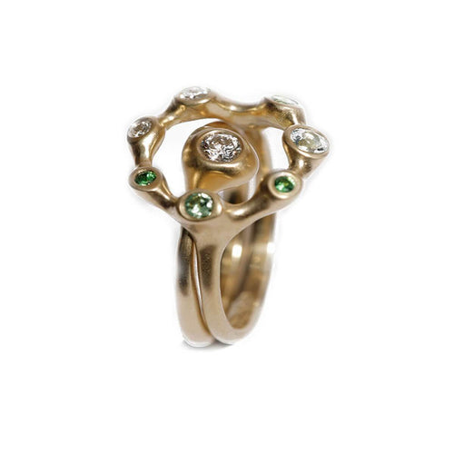 18kt Yellow Gold Anemone Sea Creatures Ring