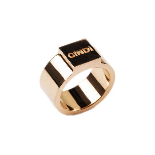 14kt Rose Gold Block Ring W ,[product vendor],JewelStreet