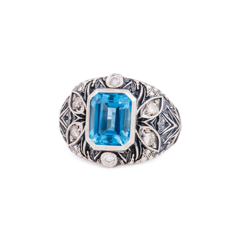 Sterling Silver & Topaz A'donna Ring | Katherine LeGrand