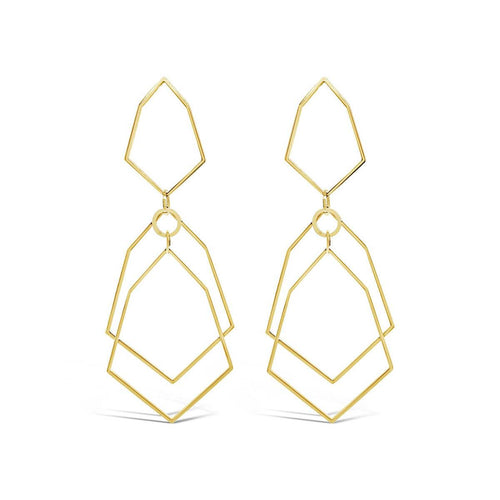 Yellow Gold Plated Corbett Earrings