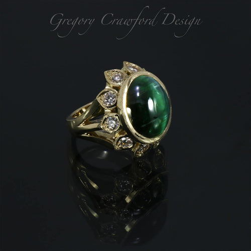 18kt Yellow Gold Cat's Eye Tourmaline Ring