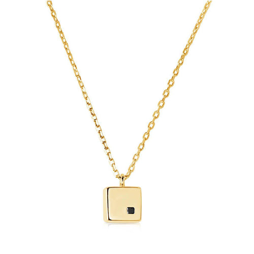 Cubic Yellow Necklace