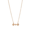 18kt Rose Gold Vermeil Baori Trinity Necklace ,[product vendor],JewelStreet