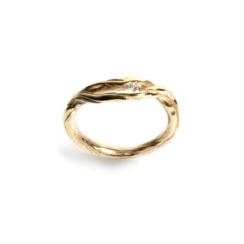 9kt Yellow Gold Driftwood Ring ,[product vendor],JewelStreet