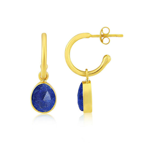 Yellow Gold Plated Manhattan Interchangeable Gemstone Earrings