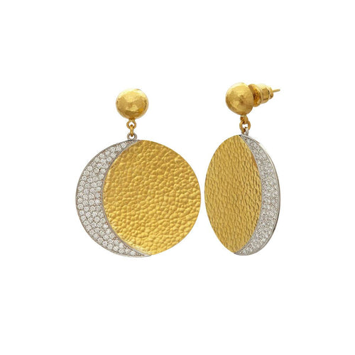 24kt Yellow Gold Mango Earrings