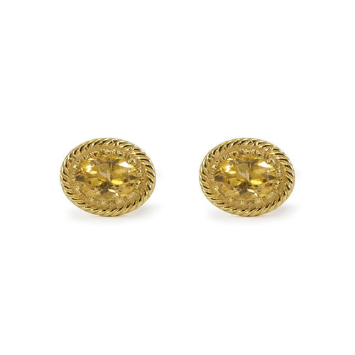 Luccichio Citrine Stud Earrings