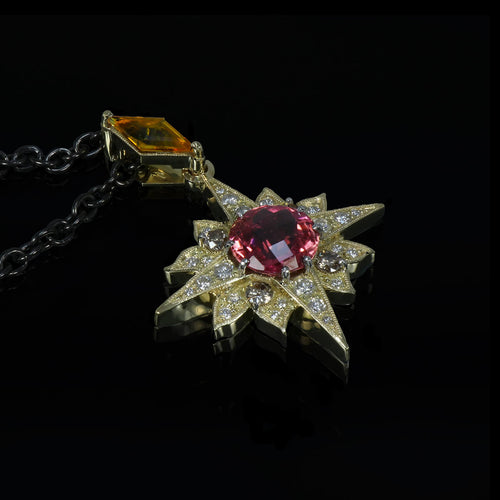 18kt Yellow Gold Electric Star Pendant ,[product vendor],JewelStreet
