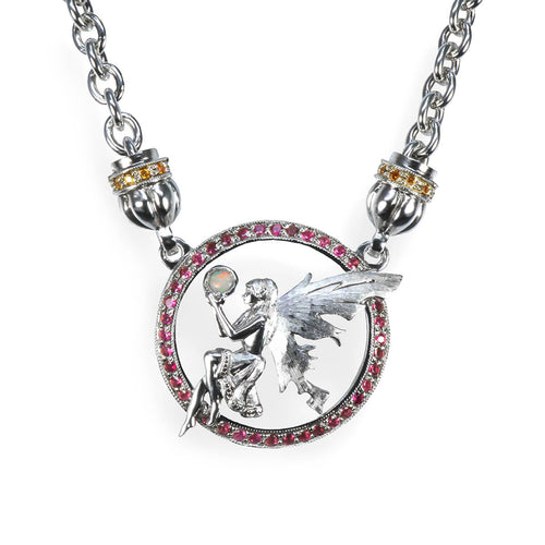 Sterling Silver Enchanting Fairy Pendant ,[product vendor],JewelStreet