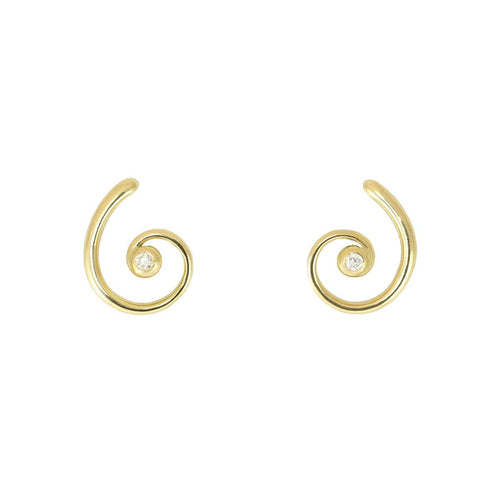 18kt Yellow Gold Faun Earrings
