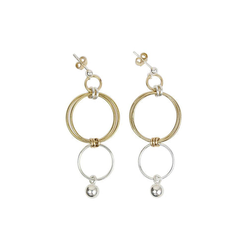 14kt Yellow Gold Filled Sterling Silver Finn Drop Earrings