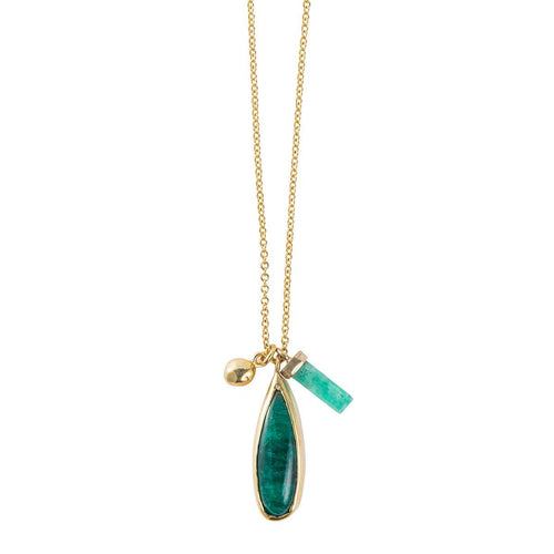 Petal Emerald Multi Necklace