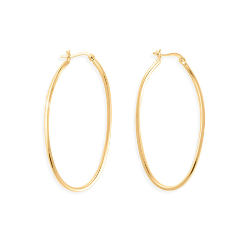 14kt Gold Vermeil Infinity Hoops ,[product vendor],JewelStreet