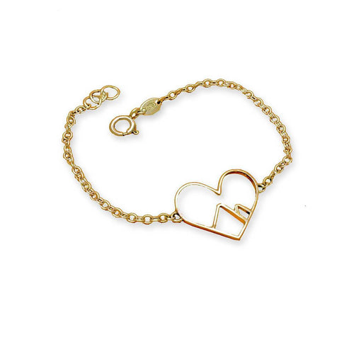 9kt Yellow Gold Love the Mountains Bracelet