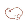 9kt Rose Gold Love the Mountains Bracelet