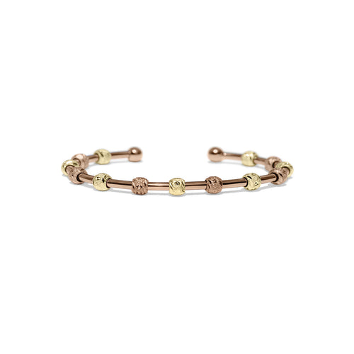 Laurel Rose Gold and Gold Two-Tone Bracelet-Chelsea Charles-JewelStreet EU