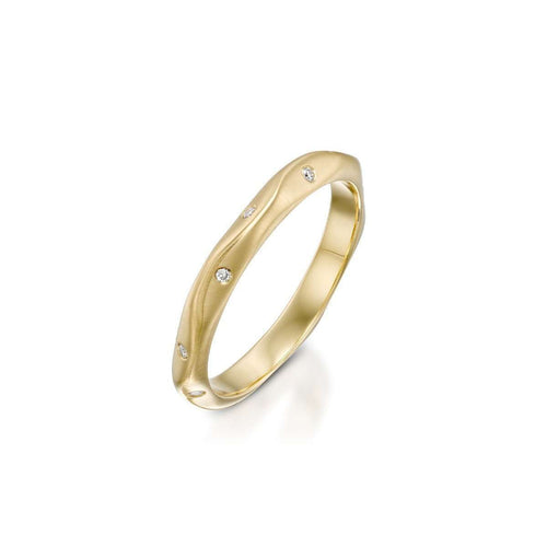 Ripples White Ring Yellow Gold ,[product vendor],JewelStreet EU