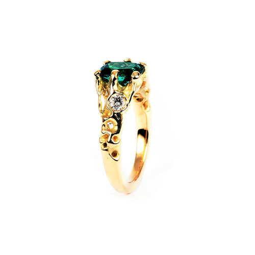 18kt Yellow Gold Jewel Anemone Ring ,[product vendor],JewelStreet