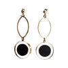 9ct Gold Marble Circle Earrings