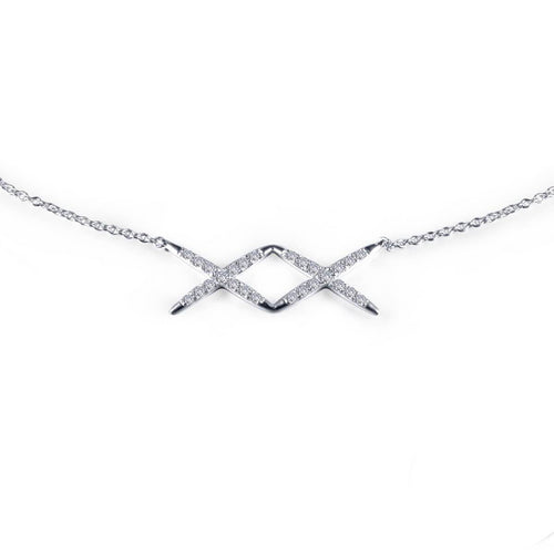 Lafonn Double X Adjustable Choker Necklace