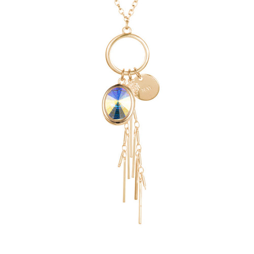 Aurora Gold Oval Cluster Necklace ,[product vendor],JewelStreet