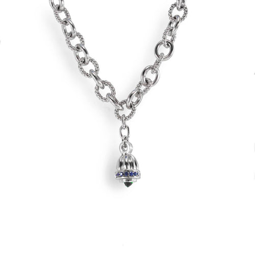 Sterling Silver Chain Necklace With Drop