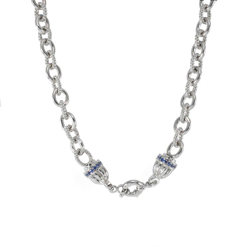 Sterling Silver Jewelled Cap Necklace