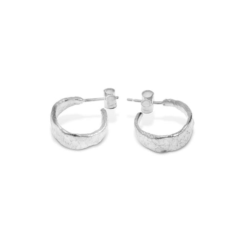 Sterling Silver Graviter Hoop Earrings | Paul Magen
