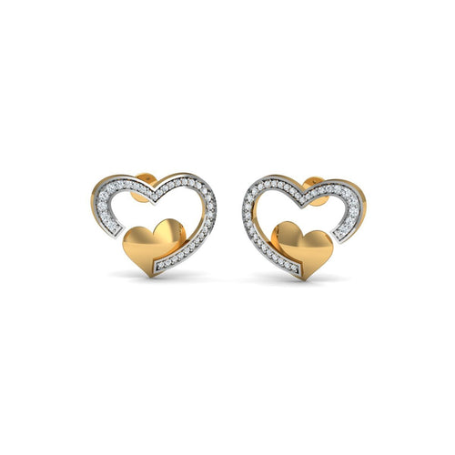 18kt Yellow Gold 0.31ct Pave Diamond Infinity Earrings