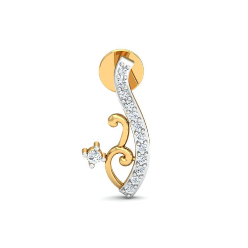 18kt Yellow Gold 0.10ct Pave Diamond Infinity Earrings IV