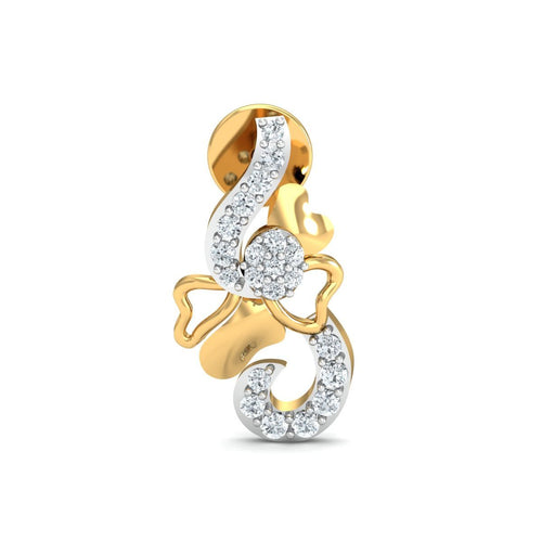18kt Yellow Gold 0.17ct Pave Diamond Infinity Earrings III