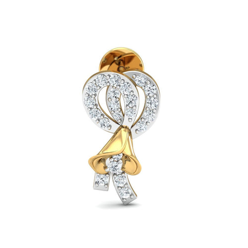 18kt Yellow Gold 0.33ct Pave Diamond Infinity Earrings