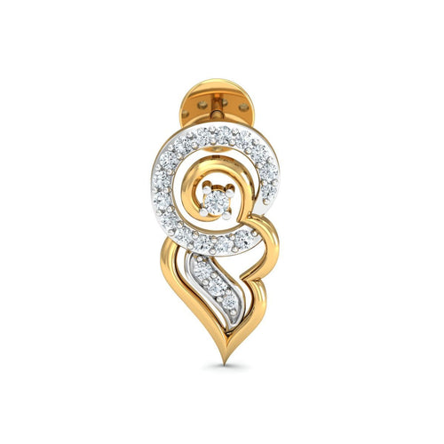 18kt Yellow Gold 0.20ct Pave Diamond Infinity Earrings I