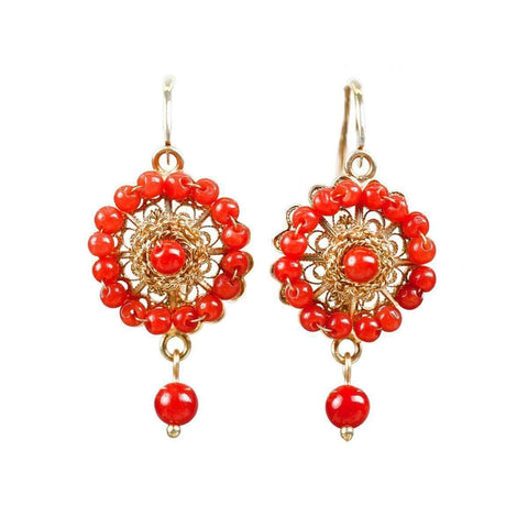 Coral Spike Earrings