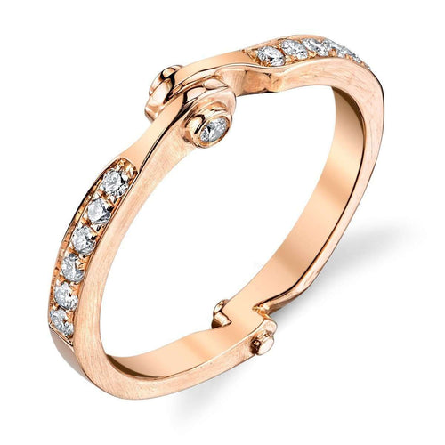 Handcuff Stackable Band in Rose Gold ,[product vendor],JewelStreet EU