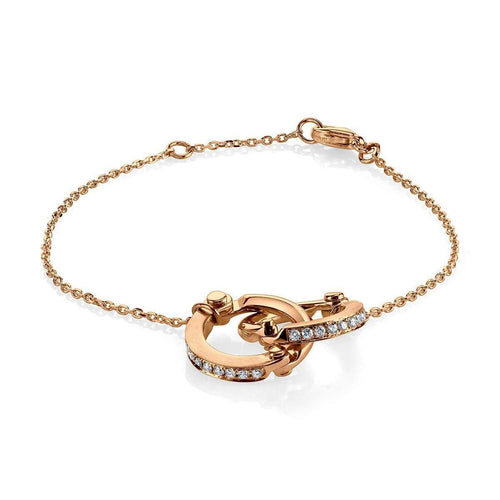 Handcuff Chain Bracelet in Rose Gold ,[product vendor],JewelStreet EU