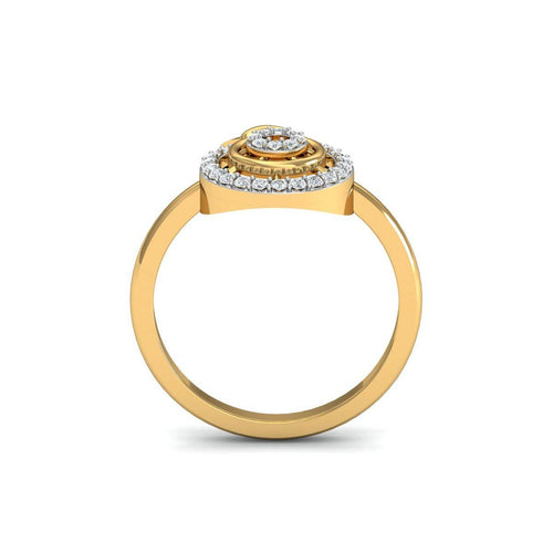 18kt Yellow Gold Pave 0.15ct Diamond Infinity Ring