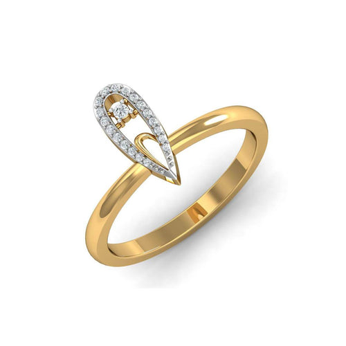 18kt Yellow Gold Pave 0.08ct Diamond Infinity Ring