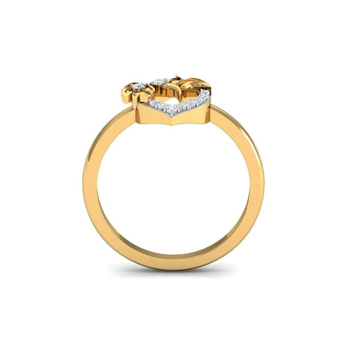 18kt Yellow Gold Pave 0.12ct Diamond Infinity Ring